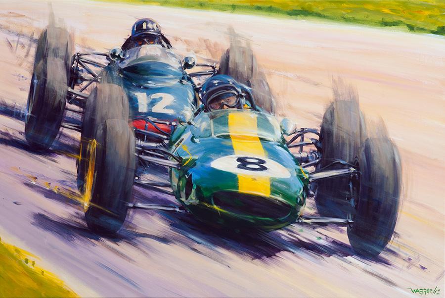 '63 decider - Acryl auf Leinwand/Acrylic on canvas - Größe/size 150/100cm - verkauft/sold