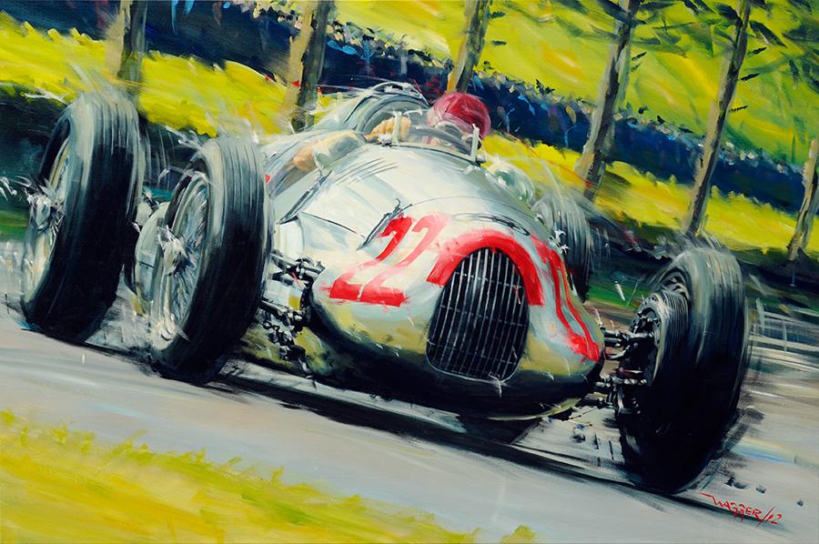 Monza '38 - Acryl auf Leinwand/Acrylic on canvas - Größe/size 150/90cm - verkauft/sold