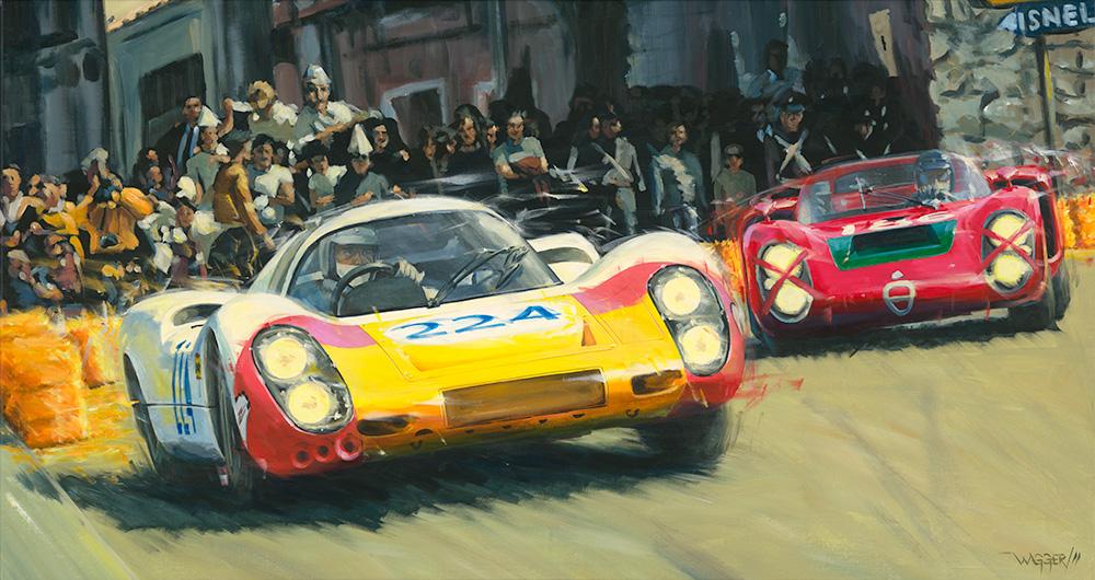 Targa Florin '68 - Acryl auf Leinwand/Acrylic on canvas - Größe/size 150/80cm - Preis auf Anfrage/Price upon request