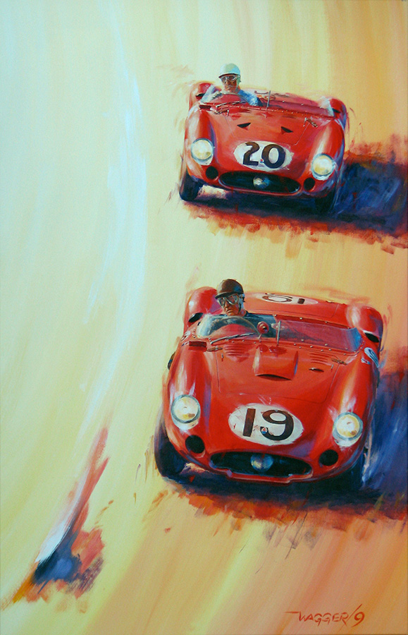 Sebring Heat II - Acryl auf Leinwand/Acrylic on canvas - Größe/size 90/140cm - Preis auf Anfrage/Price upon request