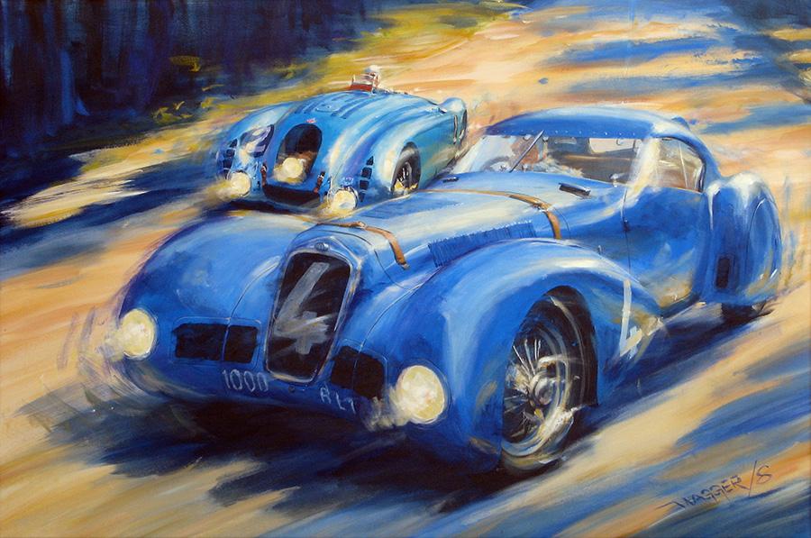 Delage? - Acryl auf Leinwand/Acrylic on canvas - Größe/size 120/80cm - Preis auf Anfrage/Price upon request