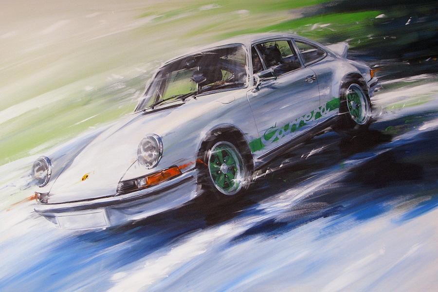 Carrera RS - Acryl auf Leinwand/Acrylic on canvas - Größe/size 120/80cm - Auftrag/commission