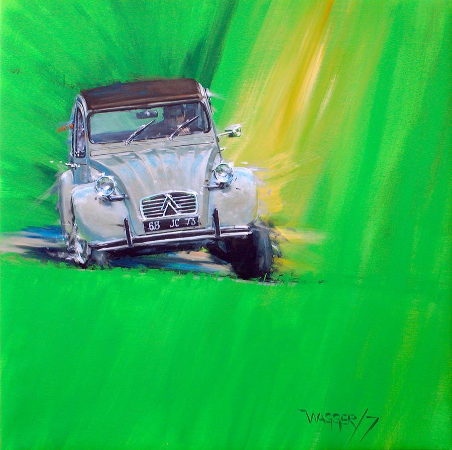 2CV - Acryl auf Leinwand/Acrylic on canvas - Größe/size 90/90cm - verkauft/sold