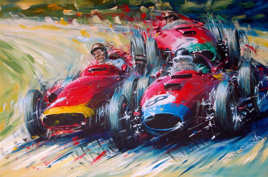 ring '57 - Acryl auf Leinwand/Acrylic on canvas - Größe/size 150/100cm - verkauft/sold - limitierter Druck verfügbar/limited edition print available