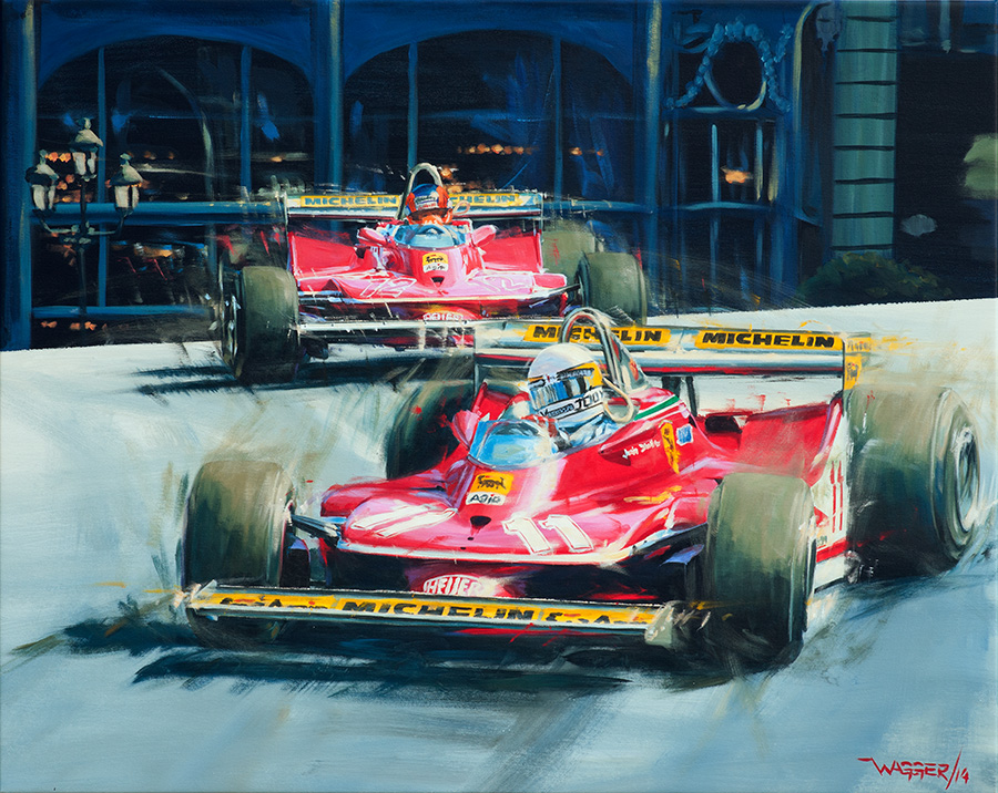 Monaco79 - Acryl auf Leinwand/Acrylic on canvas - Größe/size 100/80cm - Auftrag/Commission