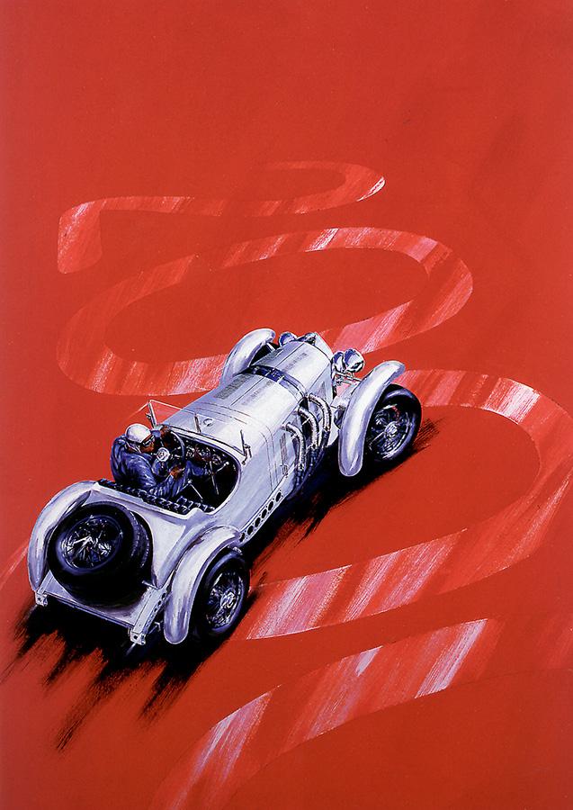 MM2000 - Acryl auf Leinwand/Acrylic on canvas - Größe/size 70/100cm - Poster Mille Miglia 2000