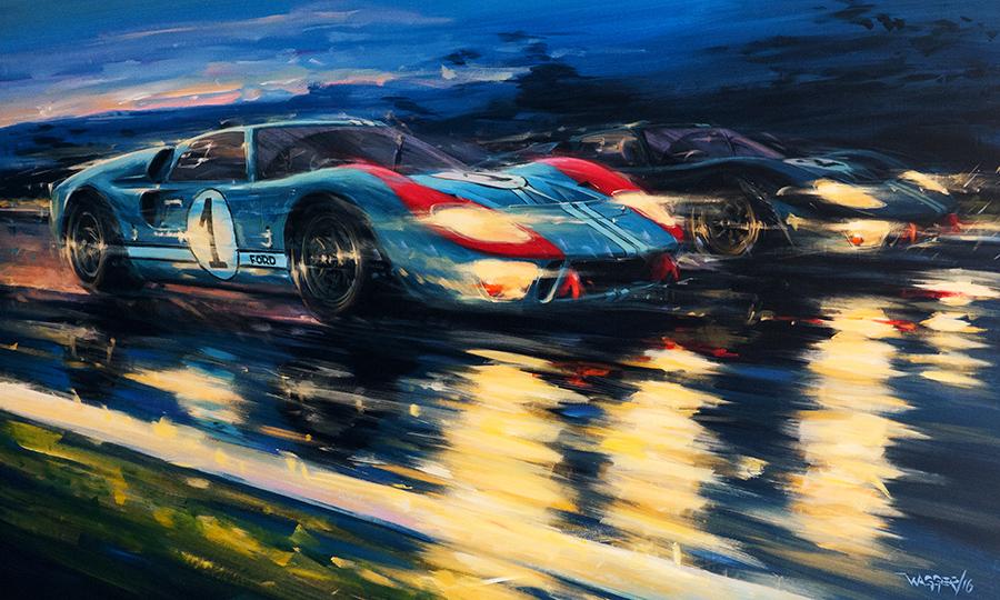 Blue Hour - Acryl auf Leinwand/Acrylic on canvas - Größe/size 150/90 cm - verkauft/ sold