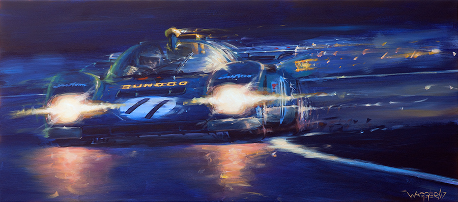 Mitternachtsblau - Acryl auf Leinwand/Acrylic on canvas - Größe/size 180/80 cm - Preis auf Anfrage/Price upon request