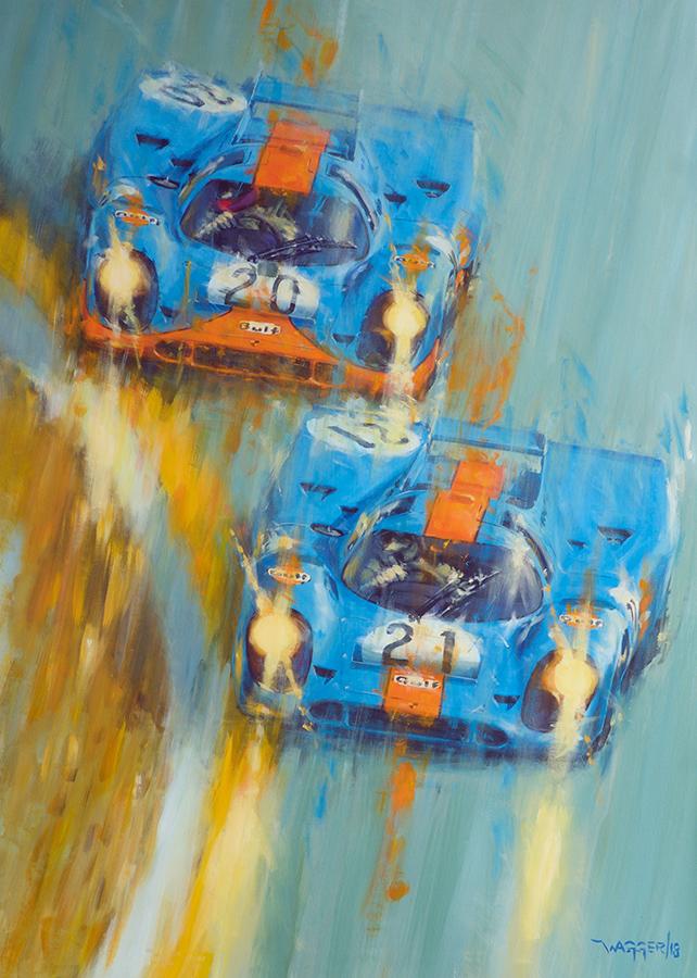'71 Raidillon - Acryl auf Leinwand/Acrylic on canvas - Größe/size 100/140 cm - verkauft/sold