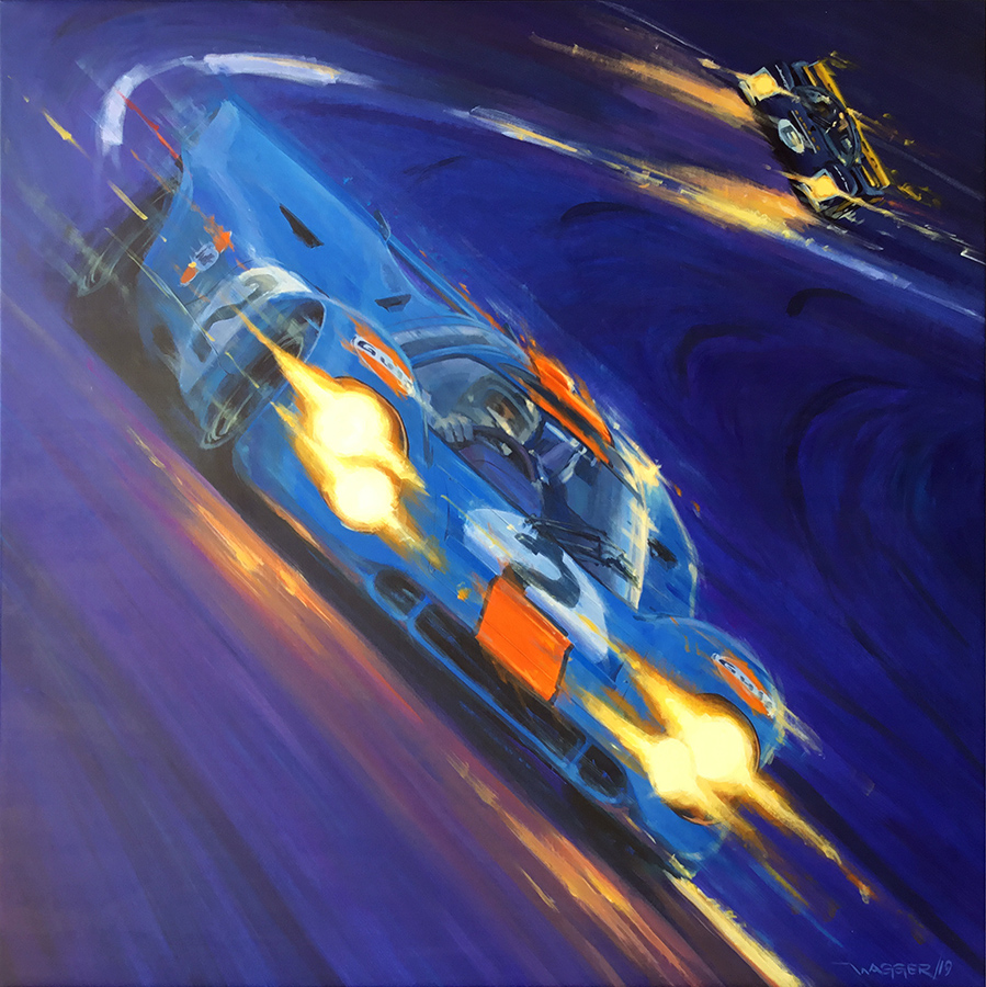 Blue Streak - Acryl auf Leinwand/Acrylic on canvas - Größe/size 140/1400 cm - Preis auf Anfrage/Price upon request